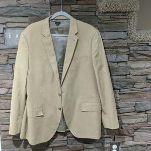 J. Crew khaki coat size 46R